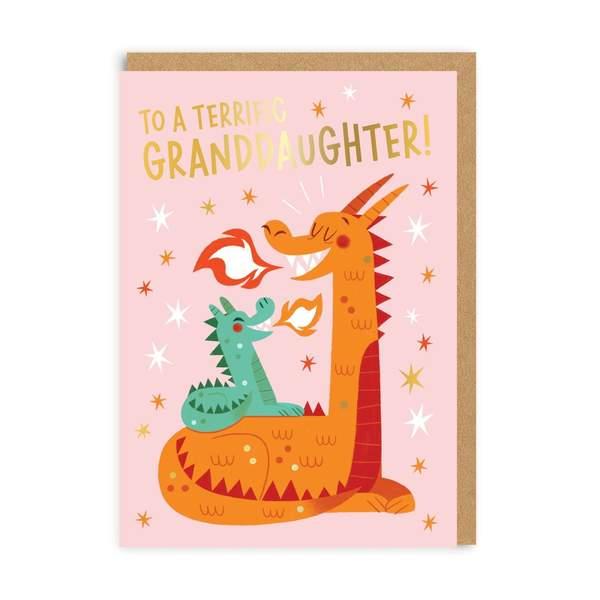 Granddaugther Dragon Greeting Card