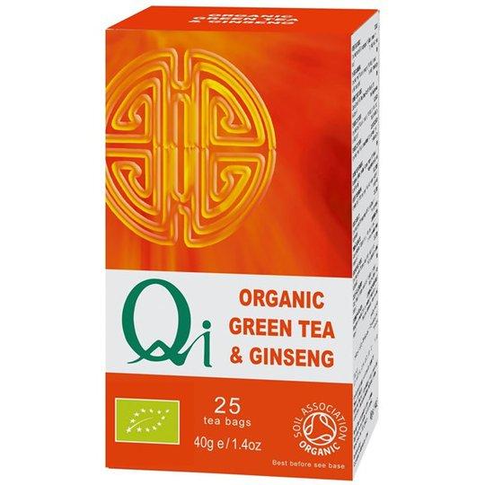 Qi Teas Grönt Te med Ginseng, 25 påsar