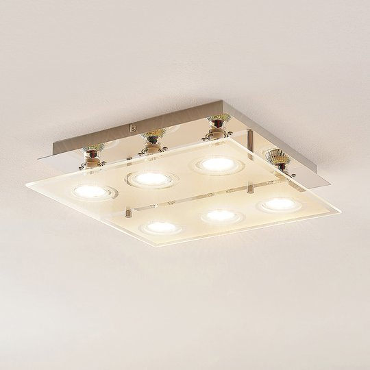 ELC Tahyla -LED-kattovalaisin, GU10, lasia, 32 cm