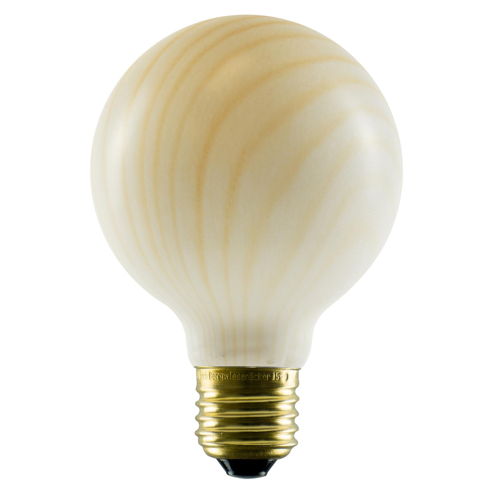 SEGULA LED-globe-lamppu G80 E27 8 W, puujäljitelmä
