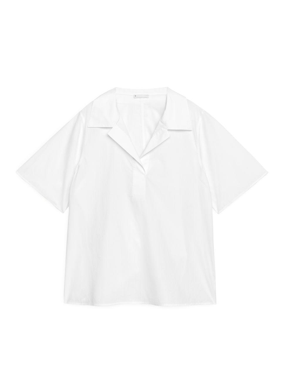 Pop-Over Poplin Shirt - White