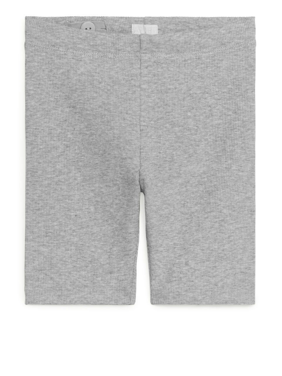 Rib Jersey Cycling Shorts - Grey
