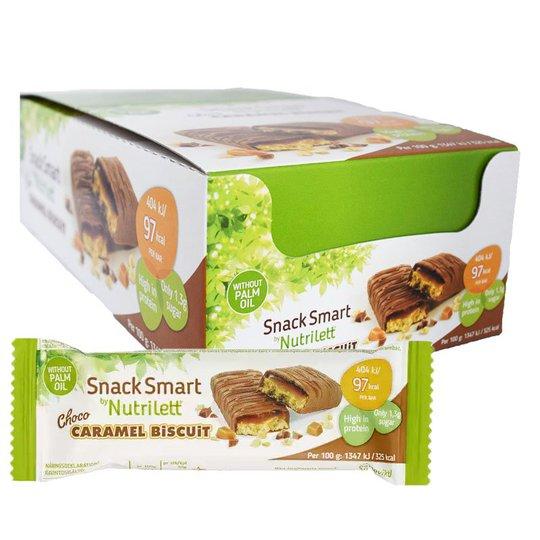 """Laatikollinen välipalapatukoita """"Choco Caramel Biscuit"""" 28 x 30 g - 50% alennus"""