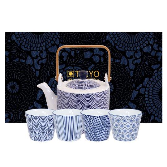 Tokyo Design Studio Nippon Blue set med tekanna och mugg