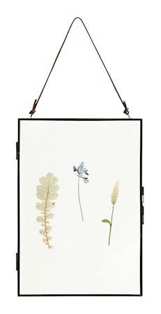 Meta Ramme med Tørkede blomster Vertikal Svart