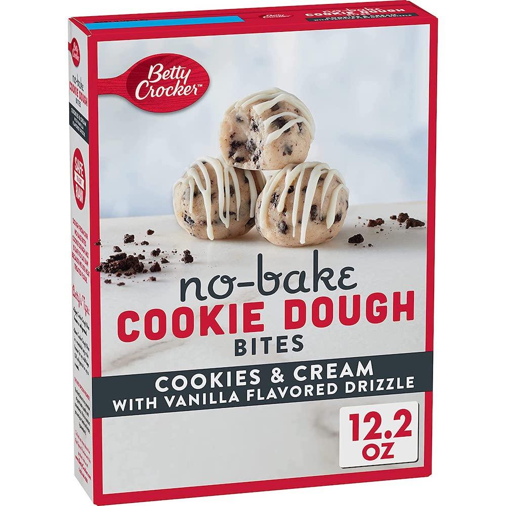 Betty Crocker No-Bake Cookie Dough Bites Cookies & Cream 345g