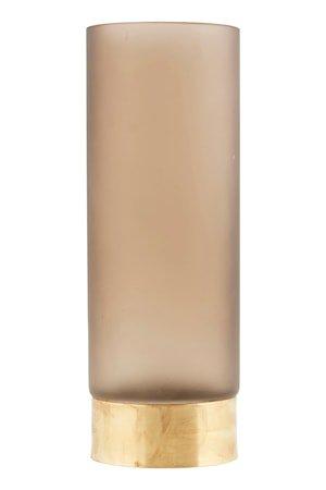 Vase Base Ø 10 cm - Lysebrun/gull