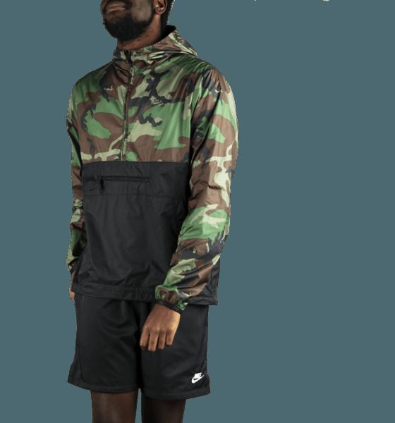 Nike Sb M Sb Anorak Jacket Camo Jackor MEDIUM OLIVE/BLACK