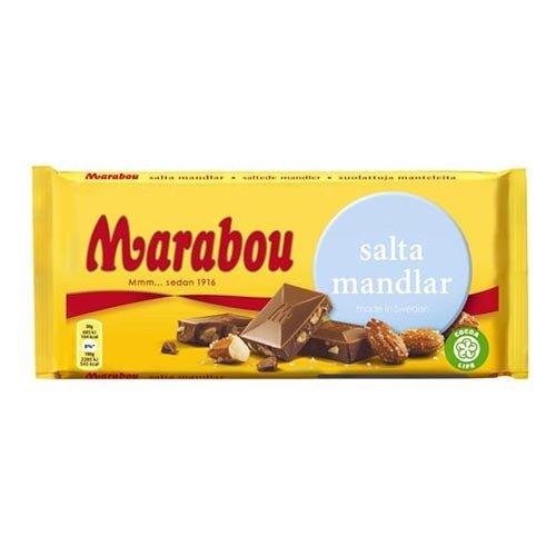 Marabou Salta Mandlar Chokladkaka - 200 gram