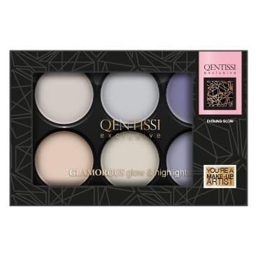 Qentissi Make-Up Highlight Palette Evening Glow