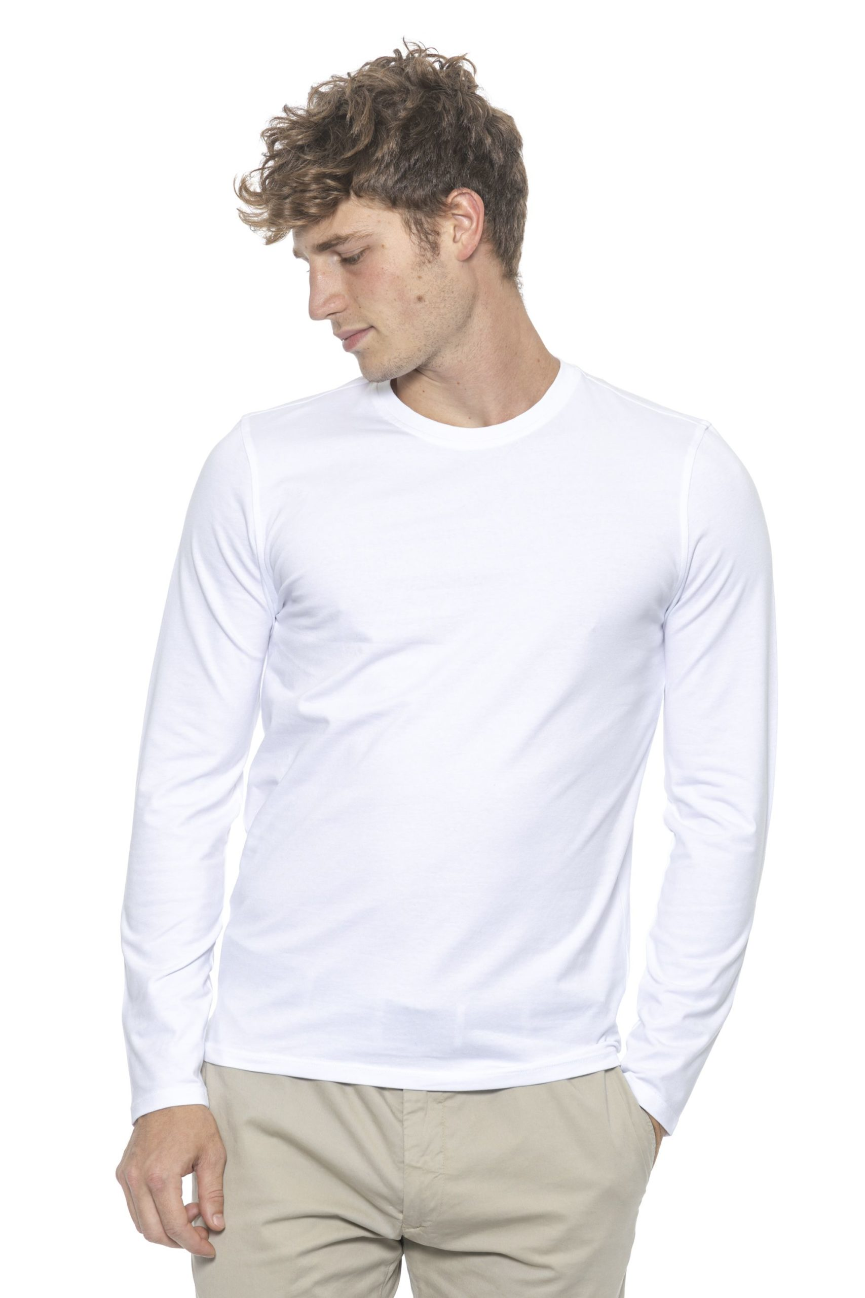 Alpha Studio Men's Bianco Sweater White AL1314482 - IT46 | S
