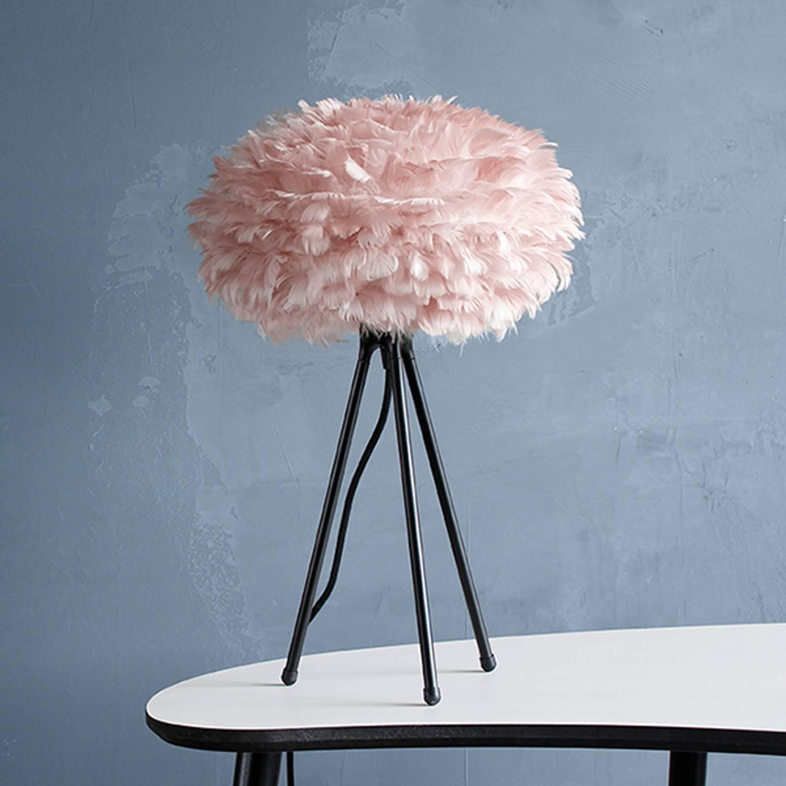 UMAGE Eos mini pöytälamppu roosa, jalustin musta