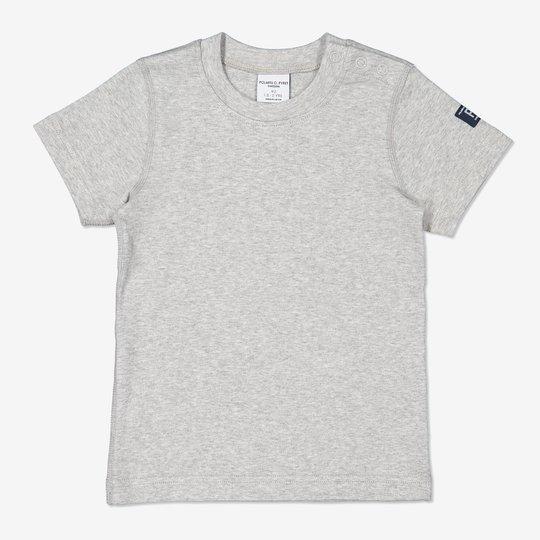 Ensfarget T-skjorte baby gråmelange