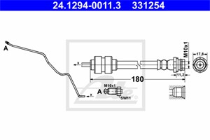 Jarruletku, Taka-akseli, oikea, FORD MONDEO IV, MONDEO Sedan IV, MONDEO Turnier IV, MONDEO Van IV, 1460250, 1520321, 1671147, 6G91-2282-