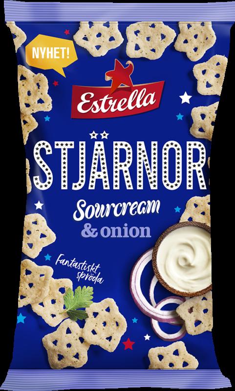 Estrella Stjärnor Sourcream & Onion 85g