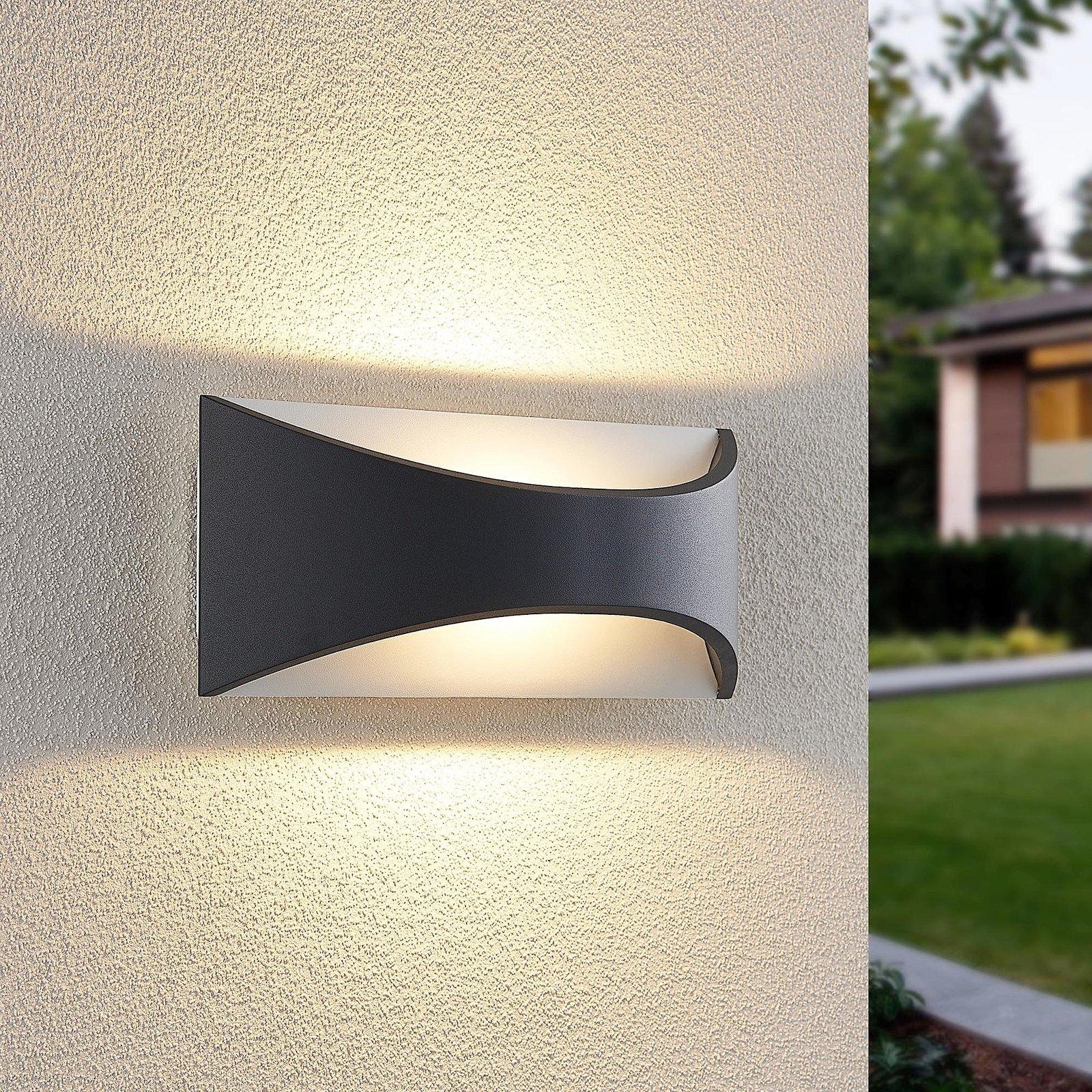 Lindby Mathea utendørs LED-vegglampe, lengde 30 cm