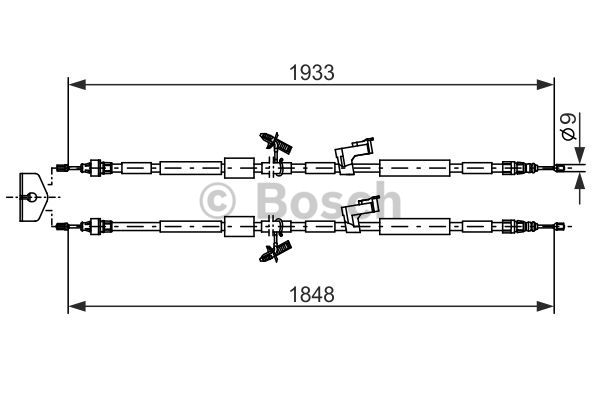 Cable, parking brake BOSCH 1 987 482 280