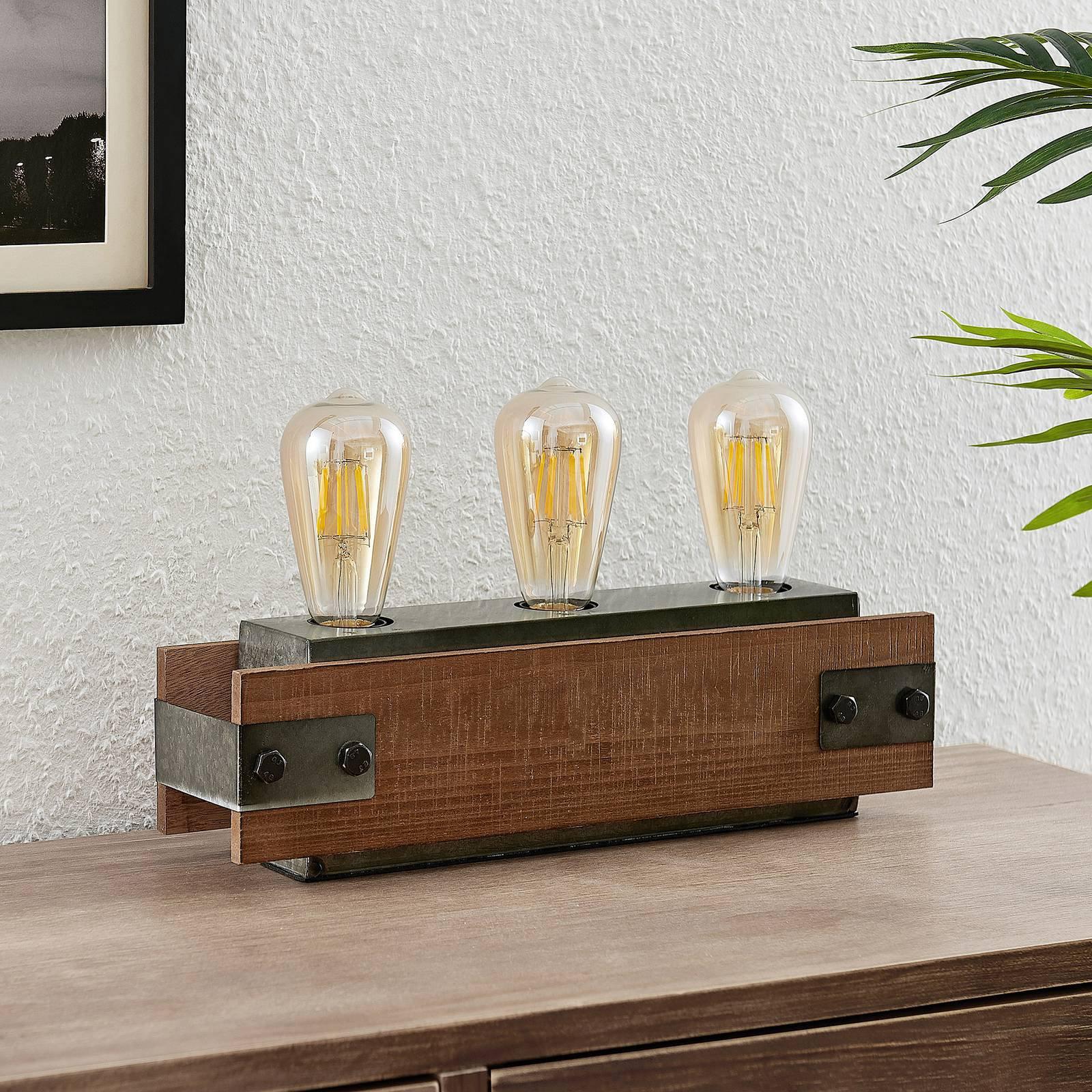 Lindby Nilaska bordlampe, 3 lyskilder