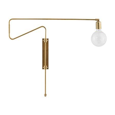 Swing Vegglampe Messing 70 cm