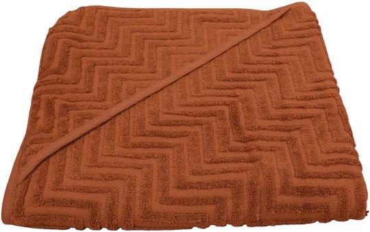 FILIBABBA Badehåndkle Zigzag, Rust