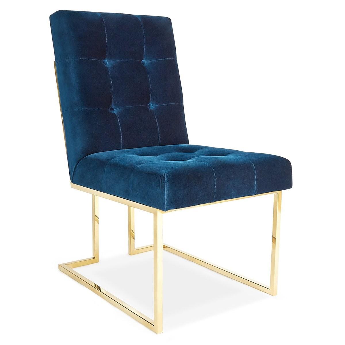 Jonathan Adler I Goldfinger Dining Chair I Rialto Navy