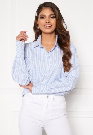 Happy Holly Isa puff sleeve shirt Striped 48/50