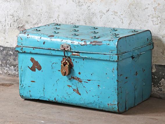 Old Blue Trunk Blue