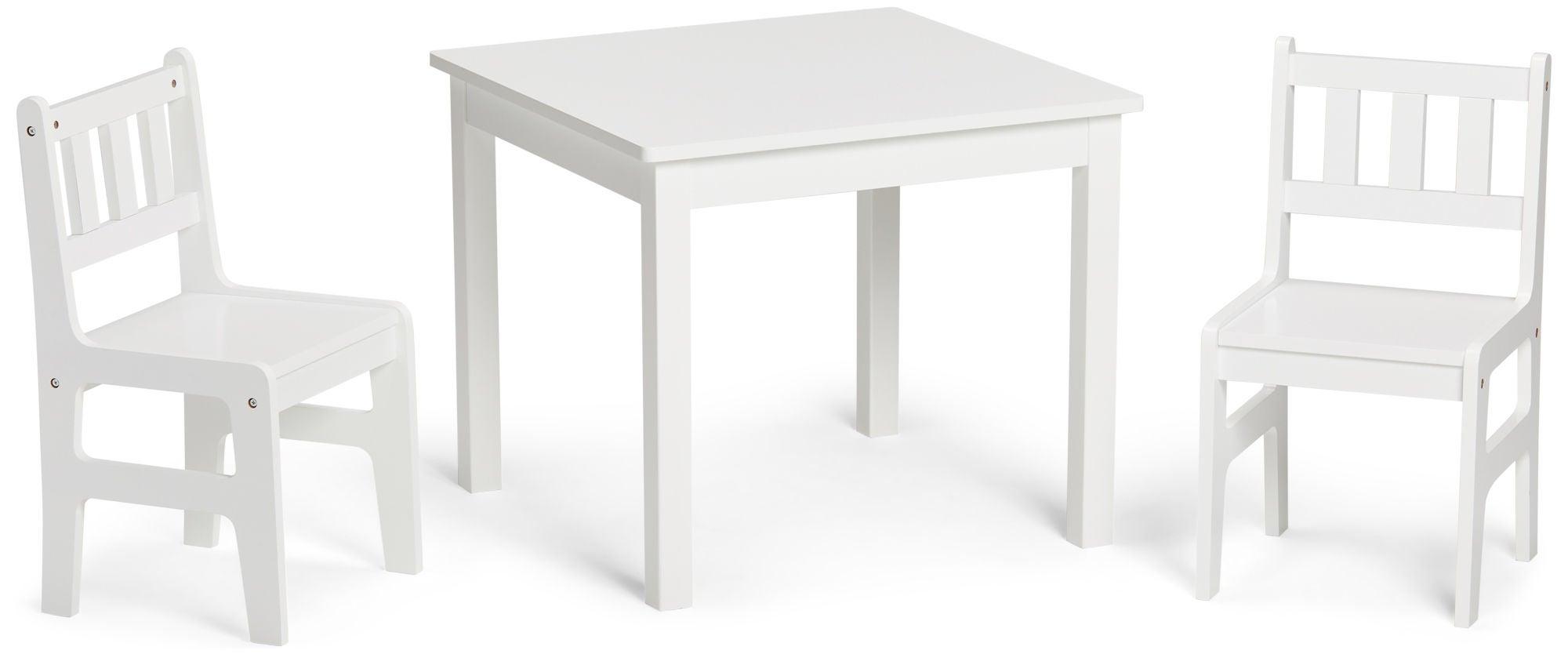 Alice & Fox Pöytä + Tuolit, Valkoinen