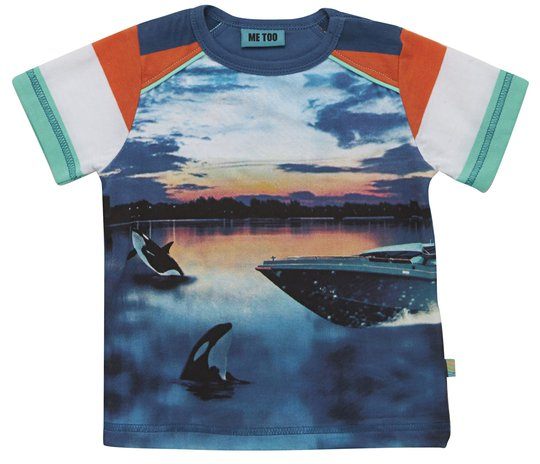 Me Too T-Shirt Frej 53, Strong Skye Blue str 86