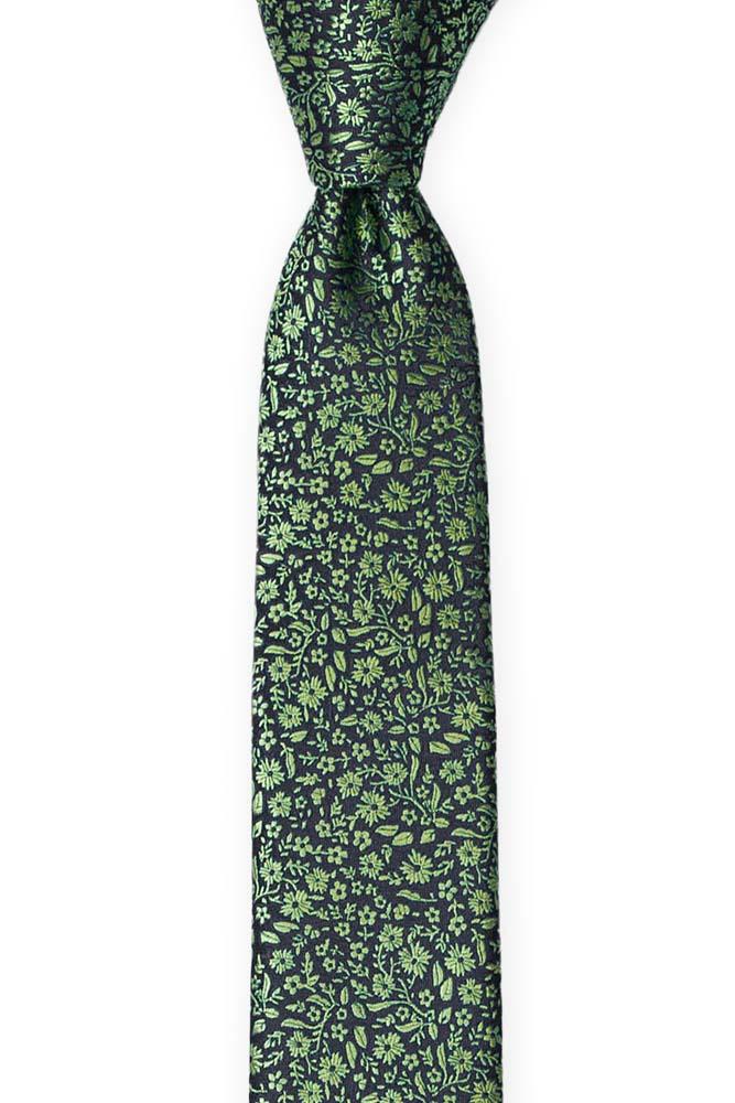 Silke Guttelsips junior, Mørkeste marineblått med grønt, blomstermønster