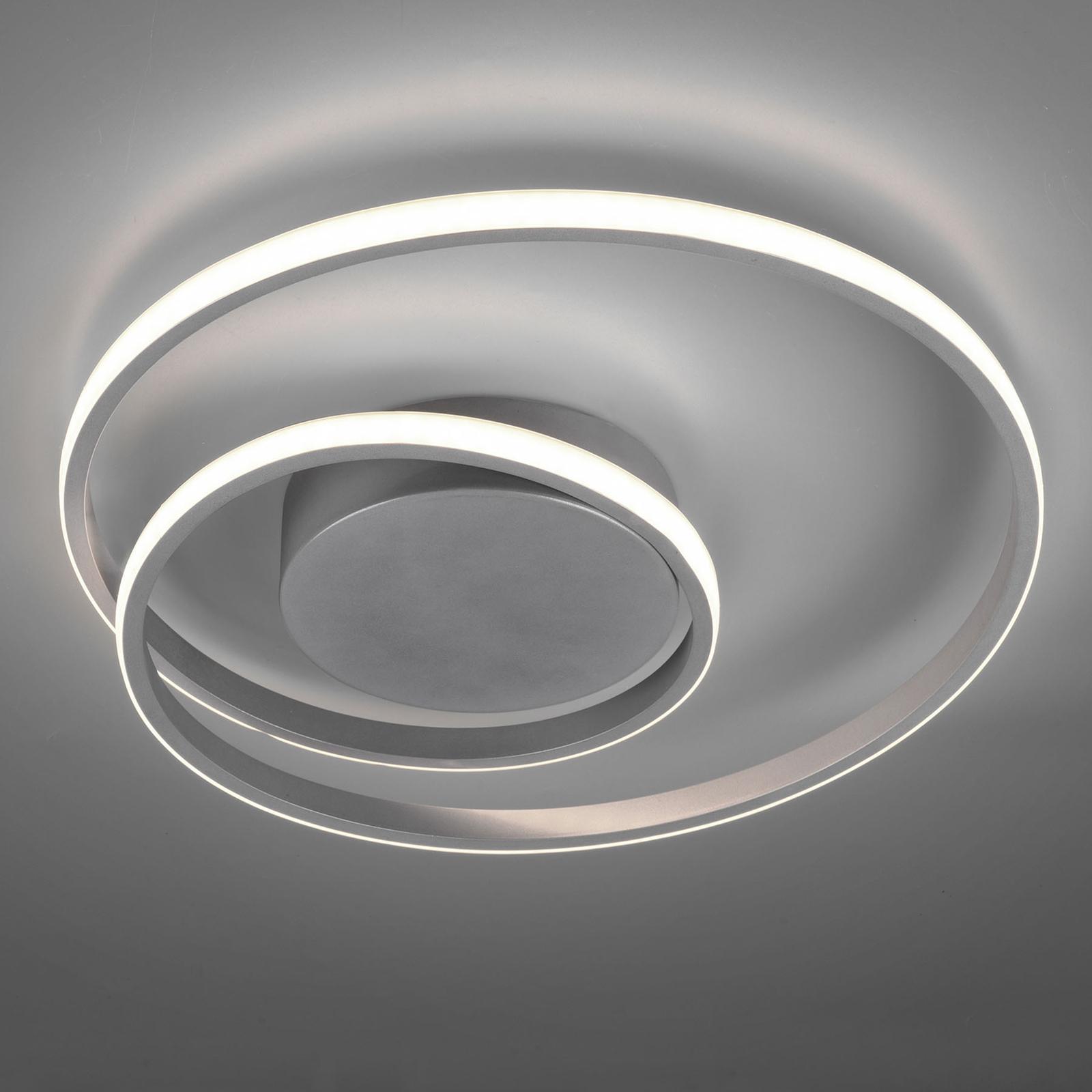 LED-kattovalaisin Zibal, himmennettävä, titaani