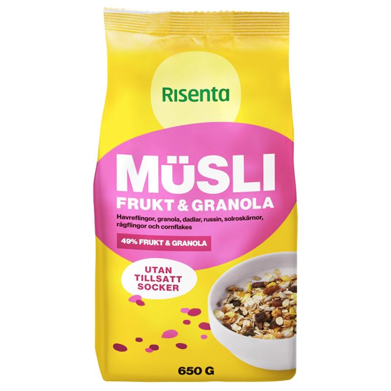 """Müsli """"Frukt & Granola"""" 650g - 57% rabatt"""