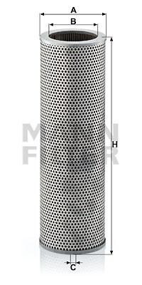 Suodatin, työhydrauliikka MANN-FILTER H 1376