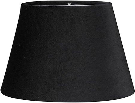 Lampeskjerm Oval Fløyel Svart