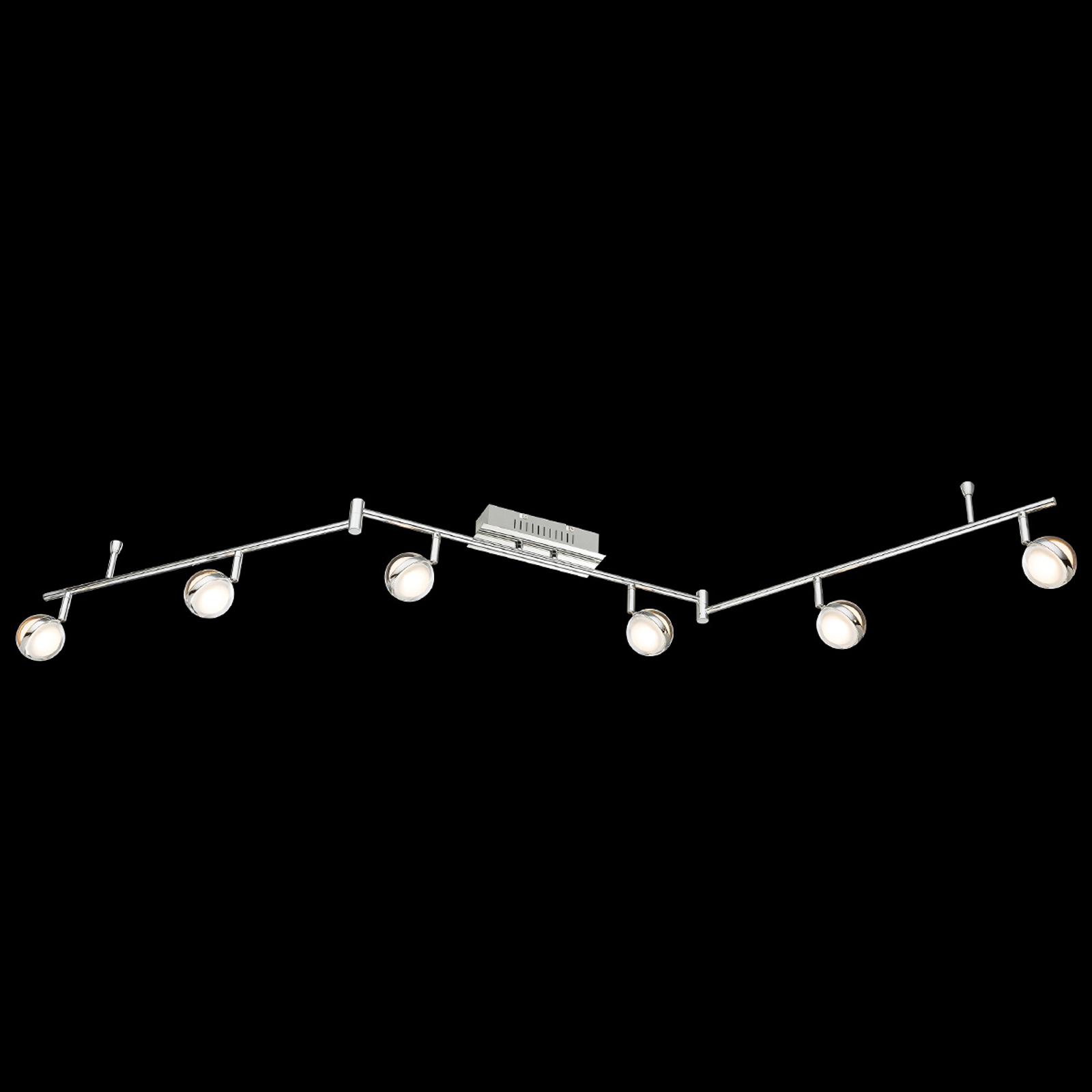LED-kattovalaisin Fulton 6-lamppuinen