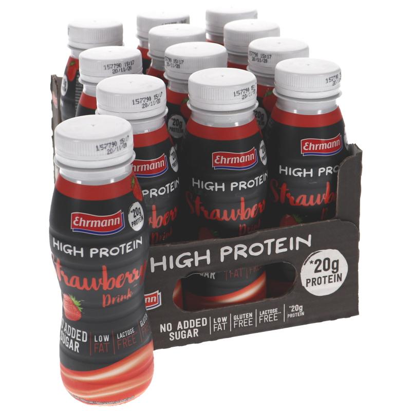 Proteindryck Jordgubb 12-pack - 41% rabatt