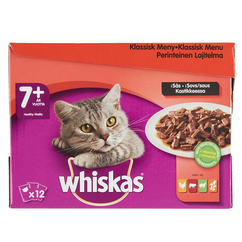Kissanruoka Lihalajitelma Kastikkeessa - 24% alennus