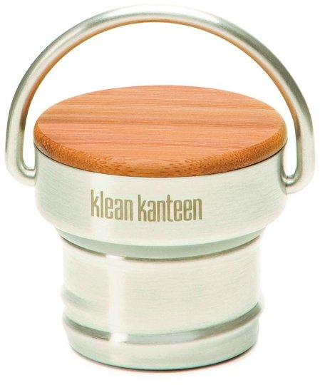 Klean Kanteen Bamboo Cap Classic, Brushed Stainless/Bamboo