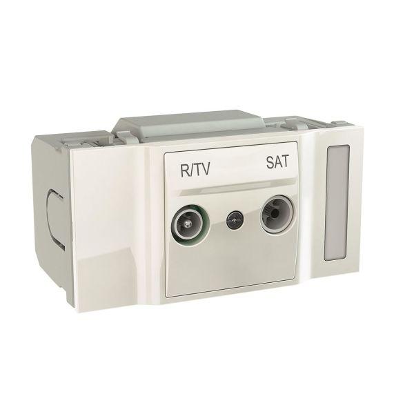 Schneider Electric INS66762 Endeuttak 2 uttak 2.5 dB