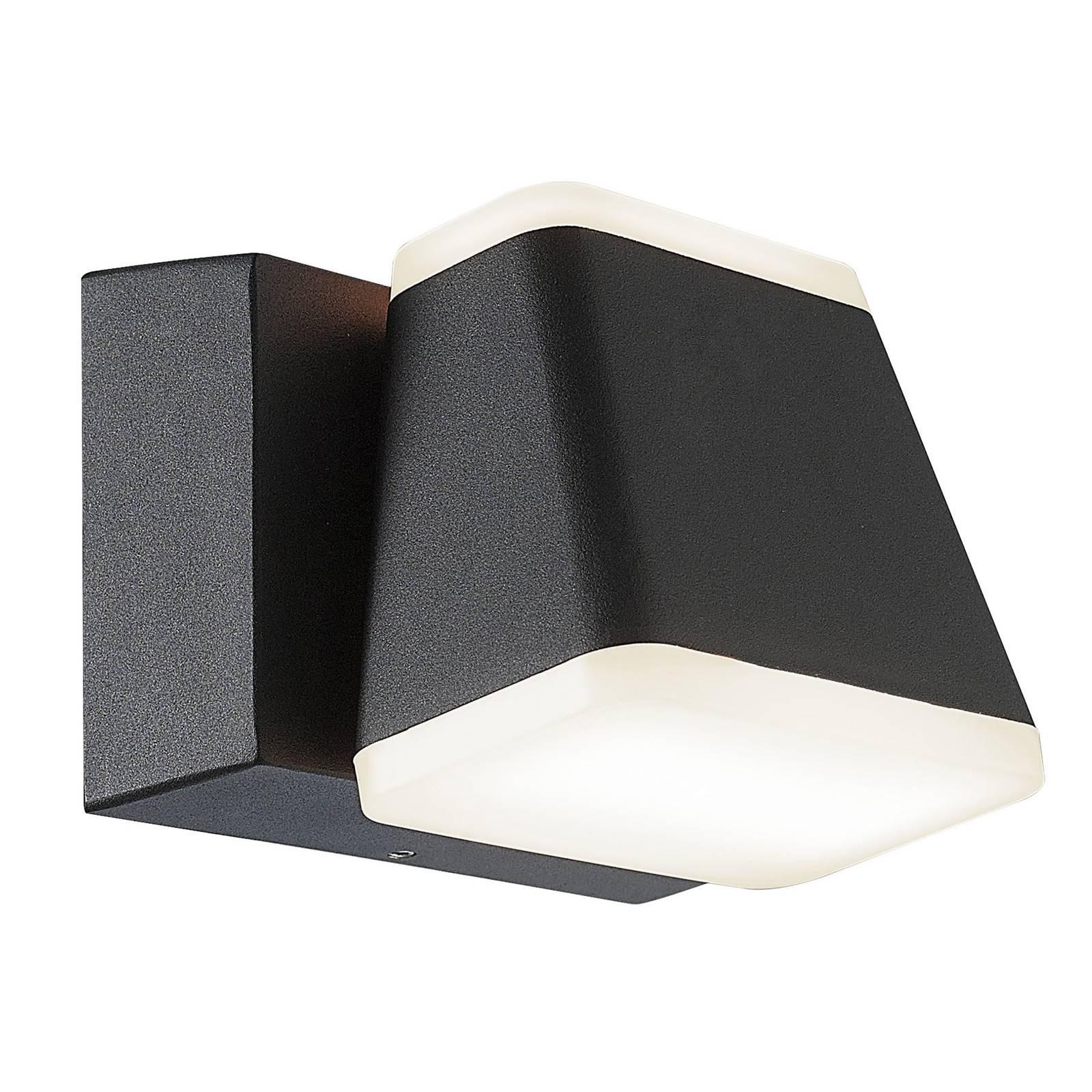 LED-ulkoseinälamppu Atlas, käännettävä, kulmikas