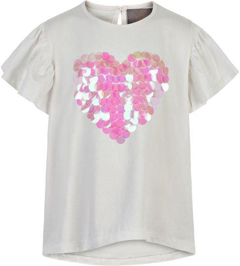 Creamie Big Sequins T-Skjorte, Cloud, 146