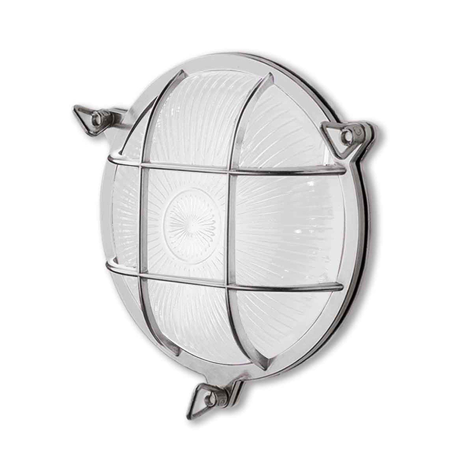 Tortuga 200.20 vegglampe, rund, nikkel/opal