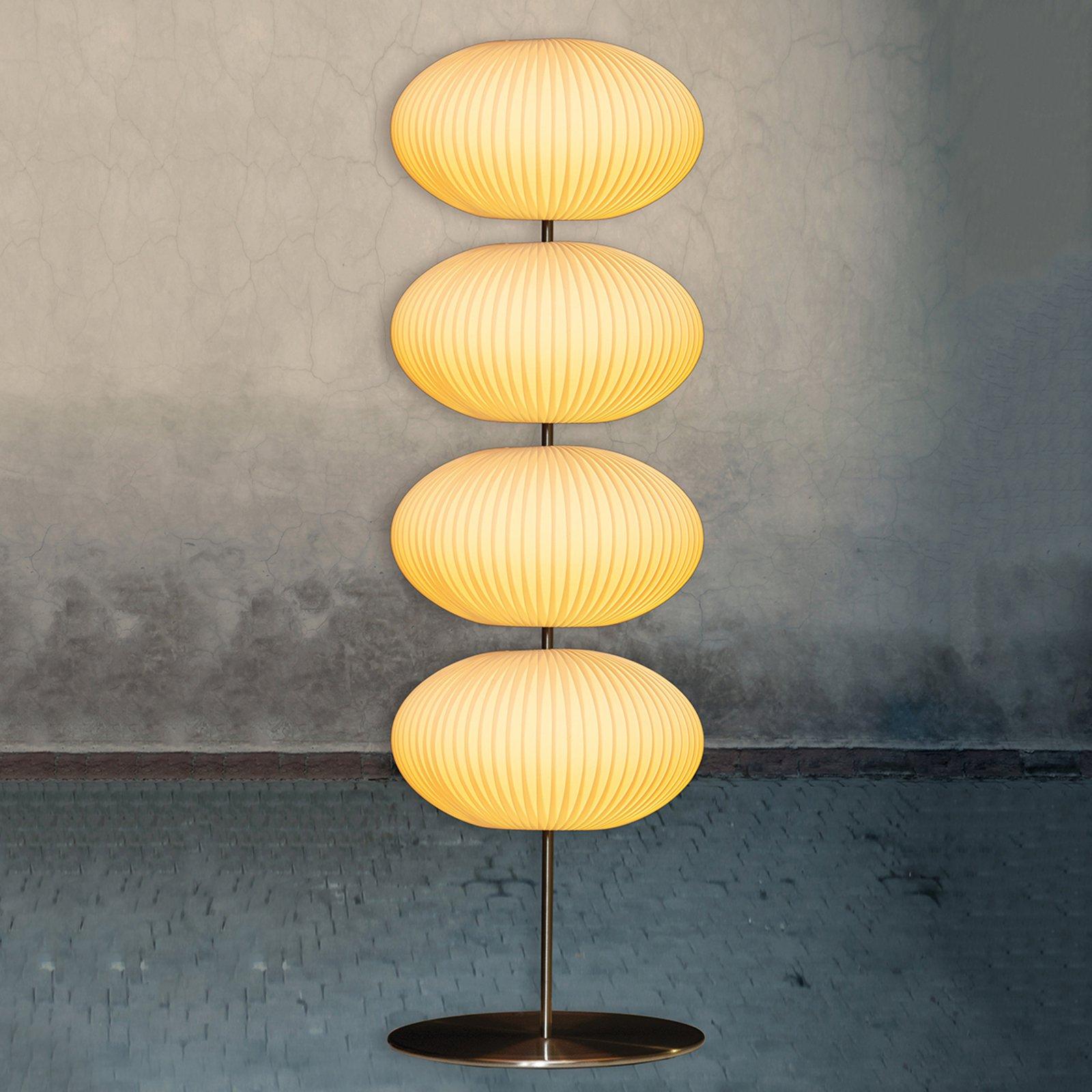 Palo gulvlampe med fire plisséskjermer