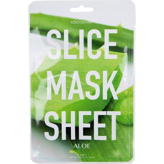 KOCOSTAR Slice Mask Sheet Aloe Vera, Kocostar K-Beauty