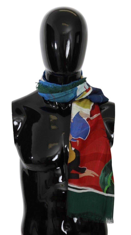 Dolce & Gabbana Men's Modal Sorrento Wrap Scarf Multicolor MS5562