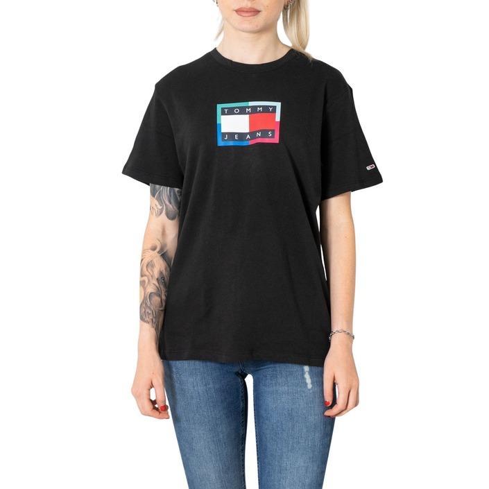 Tommy Hilfiger Jeans Women's T-Shirt Black 273353 - black XXS