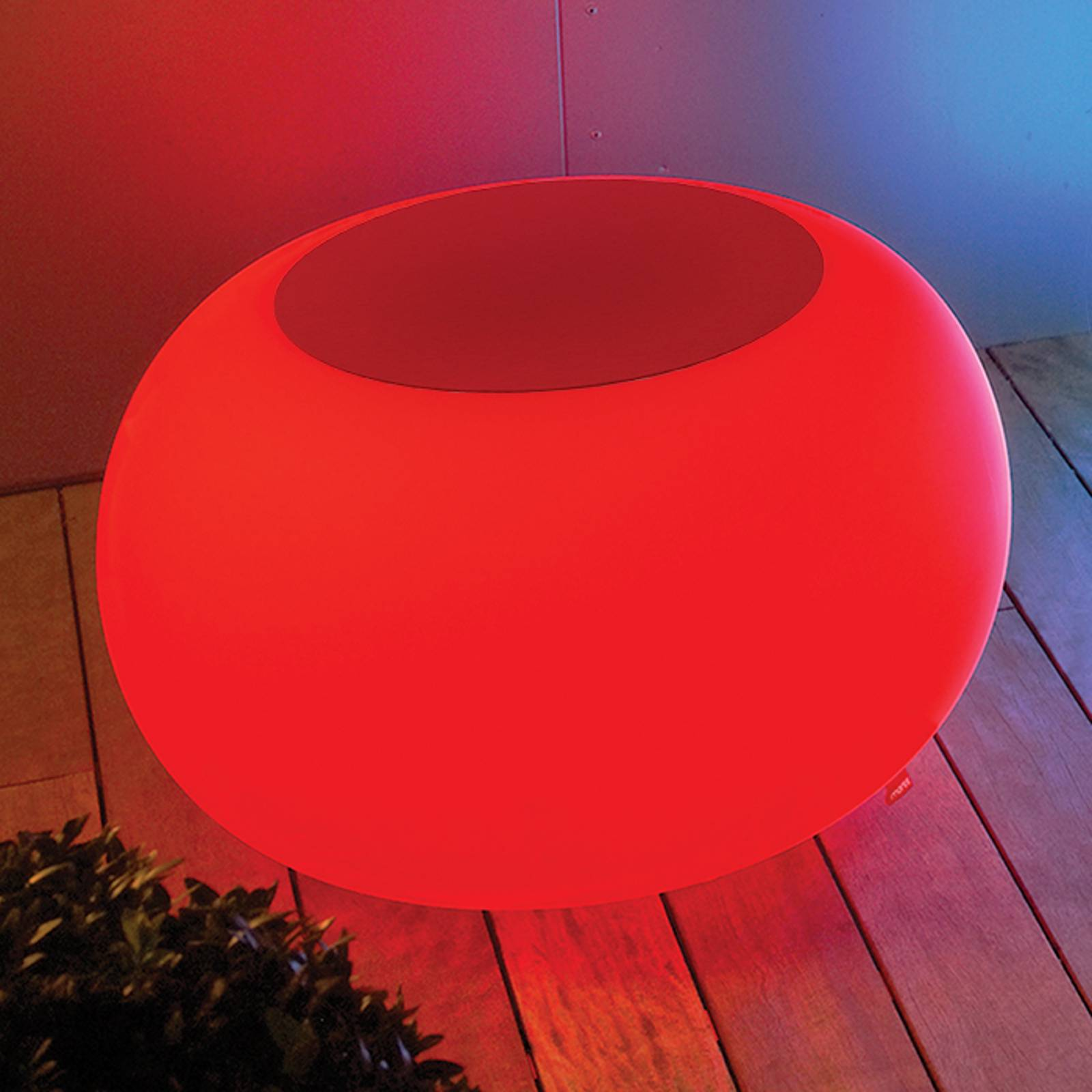 Bubble Outdoor LED pöytä RGB + huopa punainen