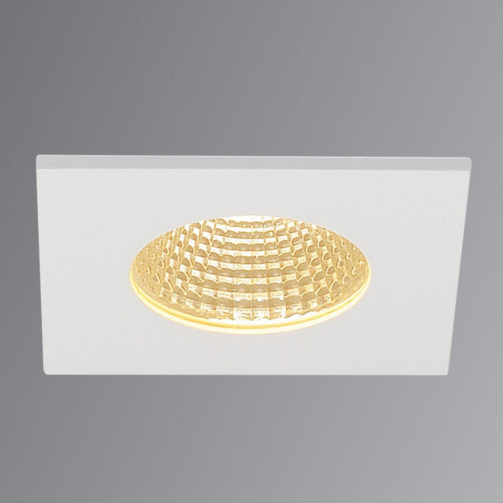 SLV Patta-I LED-downlight, kantet, matt hvit