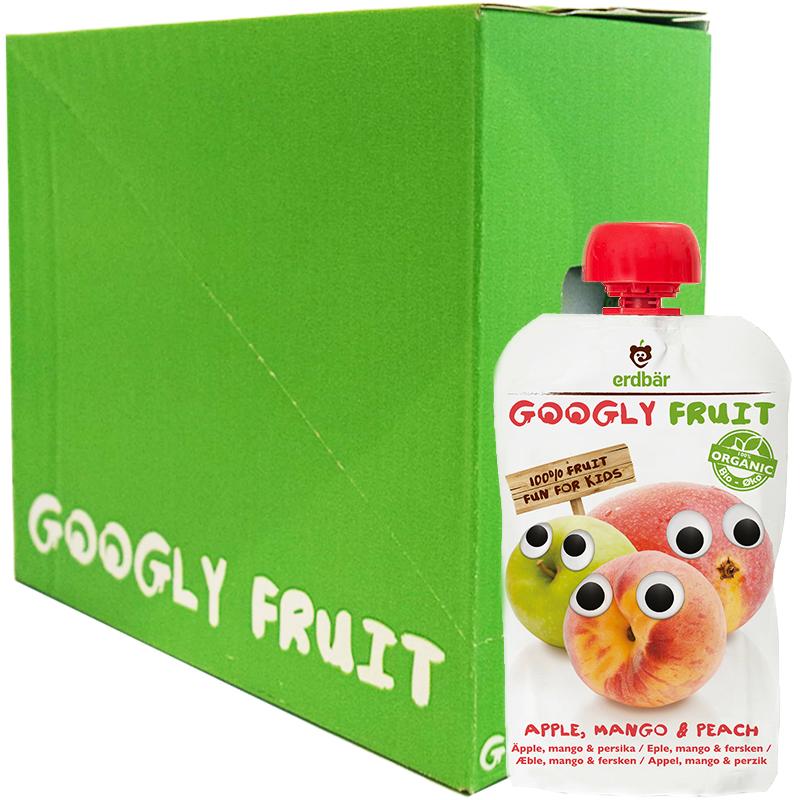Hel Låda Fruktpuré Äpple, Mango & Persika 6 x 100g - 84% rabatt