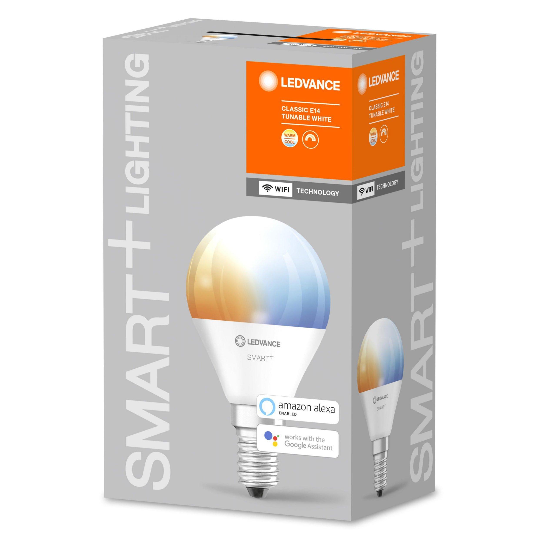 LEDVANCE - SMART+ mini-ball 40W/2700-6500 frosted E14 WiFi